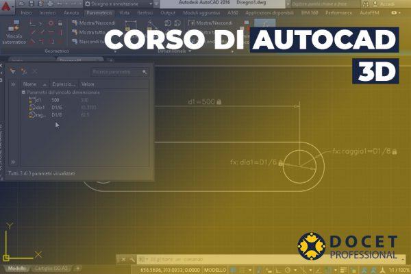 CORSO DI AUTOCAD 3D